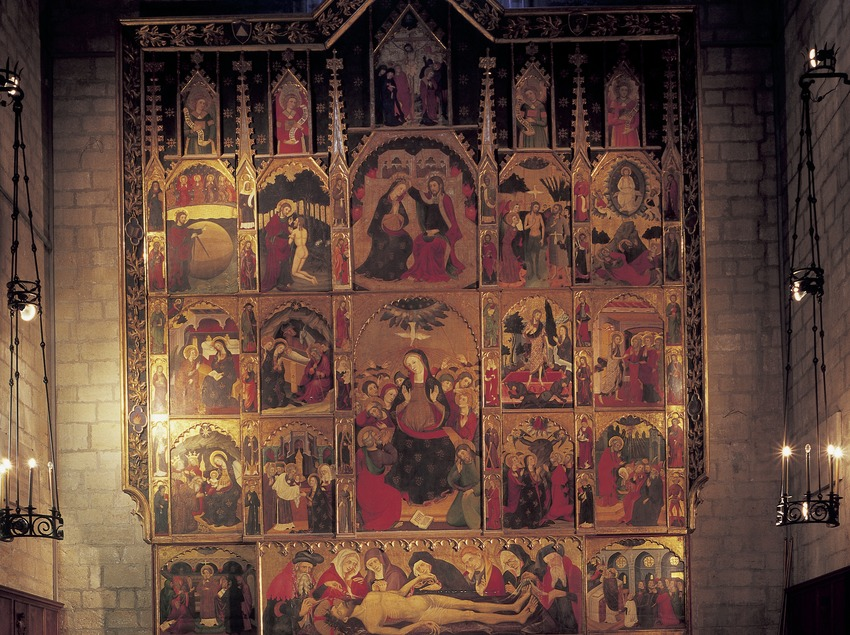 Altarpiece of the Espíritu Santo (1394) -the Holy Ghost- by Pere Serra. Basilica of Santa Maria de La Seu.  (Imagen M.A.S.)