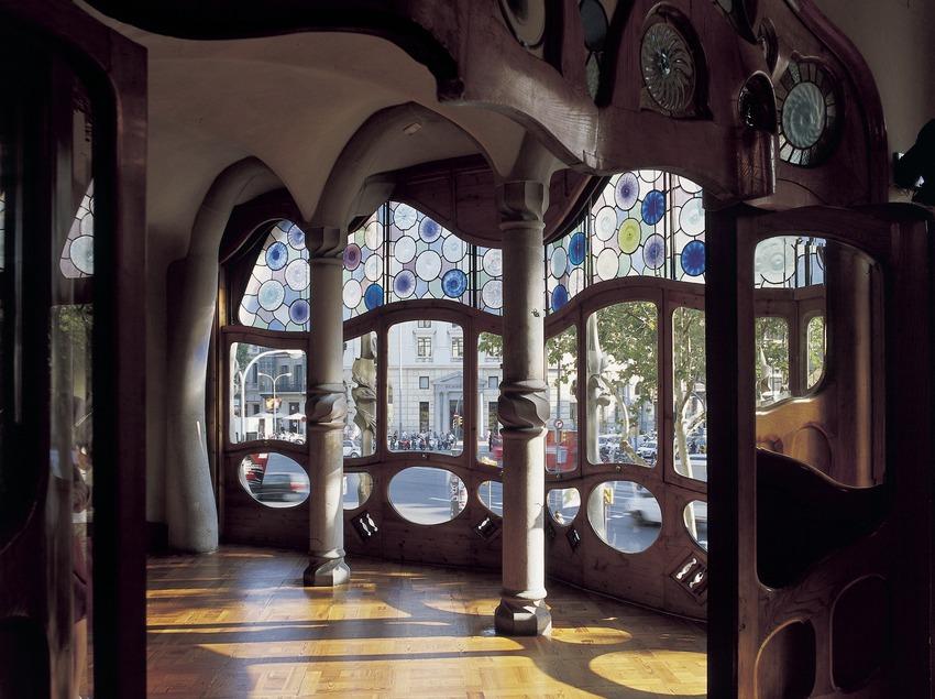 Gallery in Antoni Gaudí's Casa Batlló.