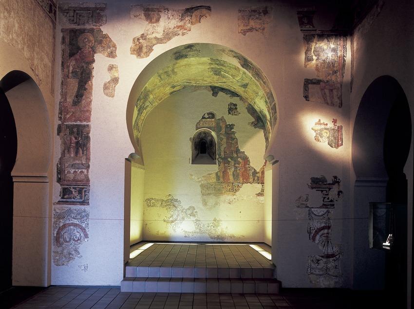 Pinturas murales (siglo XIII) procedentes de Sant Vicenç de Rus. Museo Diocesano y Comarcal de Solsona.  (Imagen M.A.S.)