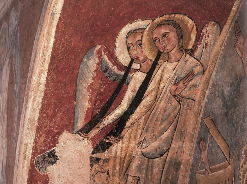 Angels of Justice (13th century) from Sant Pau de Casserres. Diocesan and Regional Museum of Solsona.  (Imagen M.A.S.)