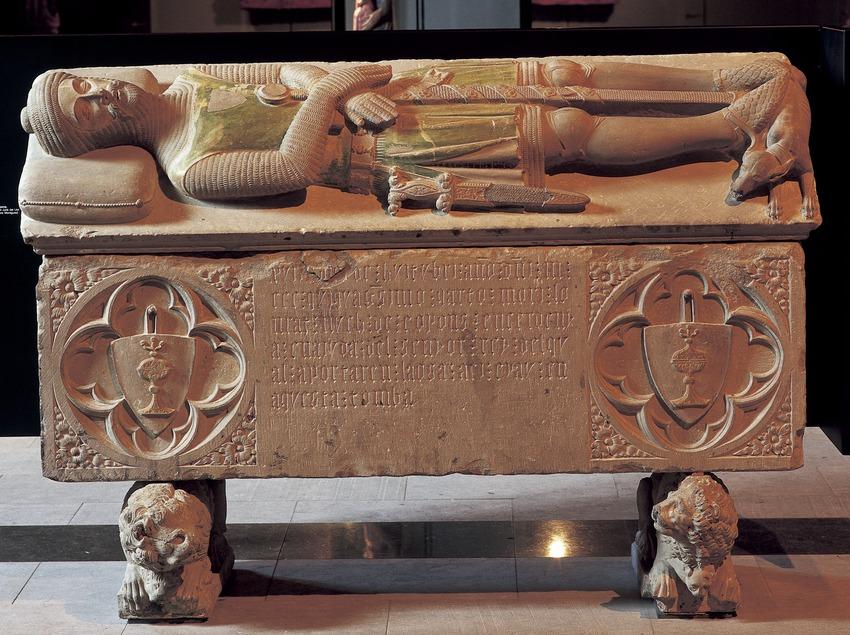 Sepulcro de Hug de Copons (1360). Museo Diocesano y Comarcal de Solsona.  (Imagen M.A.S.)