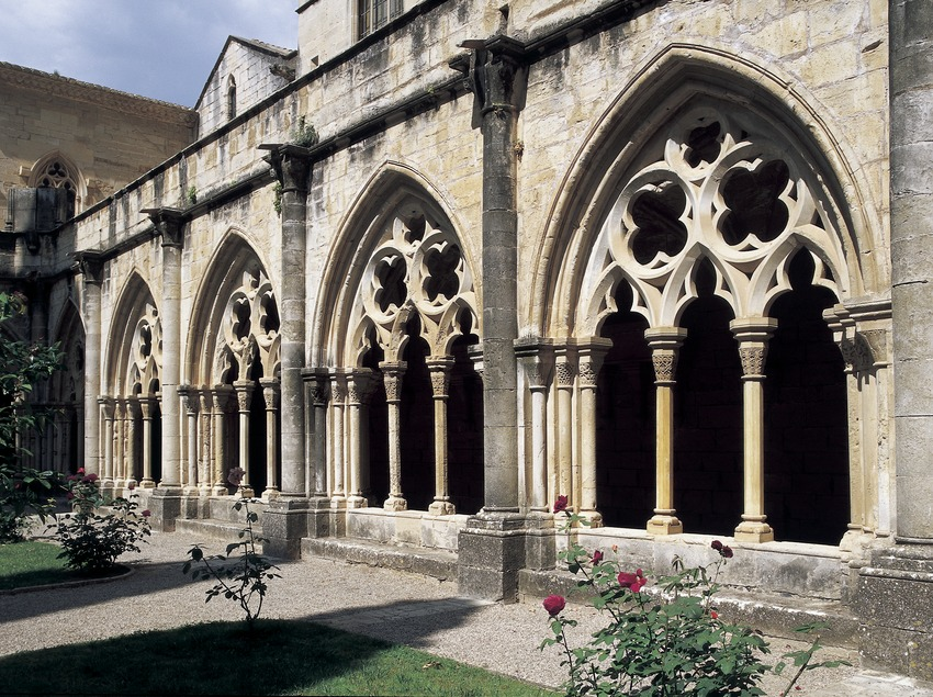 Arches of the cloister of the Royal Monastery of Santa Maria de Poblet