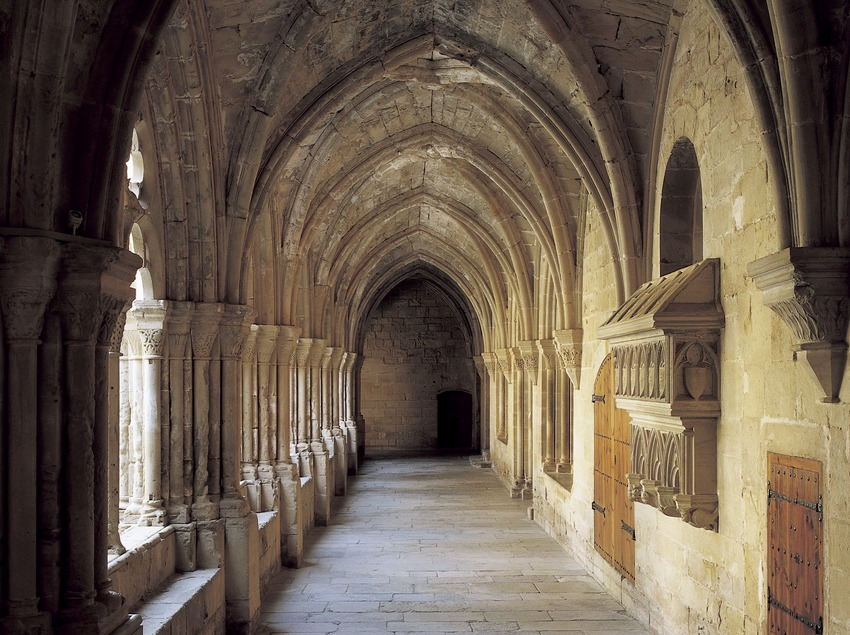 Wing of the cloister of the Royal Monastery of Santa Maria de Poblet  (Imagen M.A.S.)