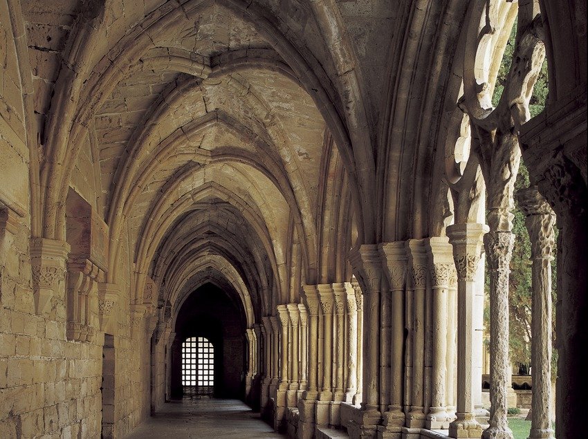 Wing of the cloister of the Royal Monastery of Santa Maria de Poblet