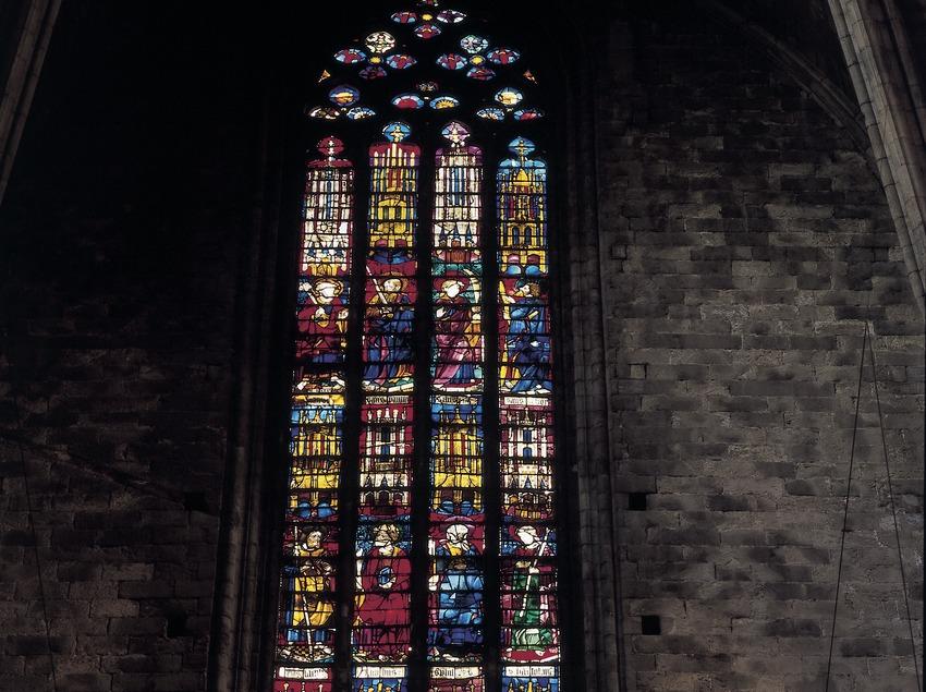 Vidriera de la catedral de Santa Maria.  (Imagen M.A.S.)