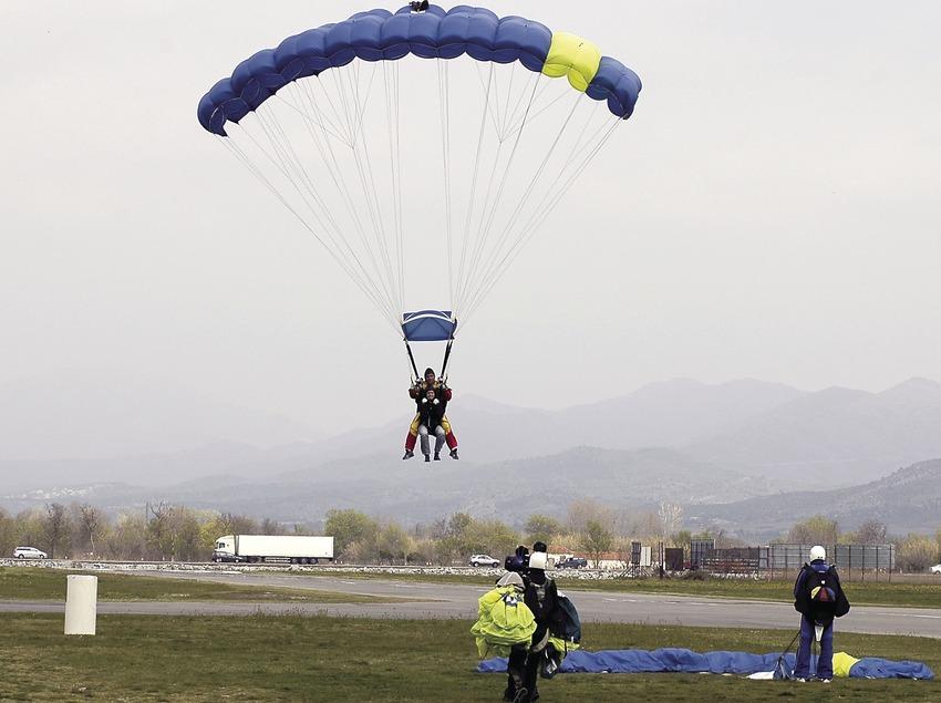 Parachutist at the Empuriabrava flying club.