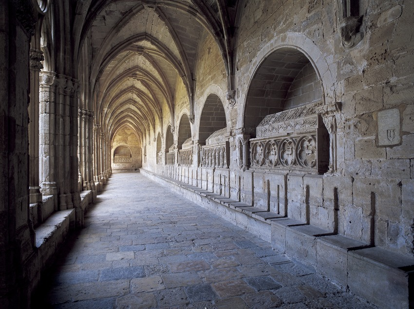 Wing of the cloister of the Royal Monastery of Santes Creus  (Imagen M.A.S.)
