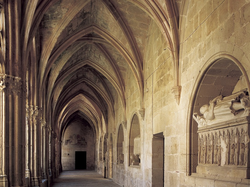 Ala del claustre del Reial Monestir de Santes Creus  (Imagen M.A.S.)