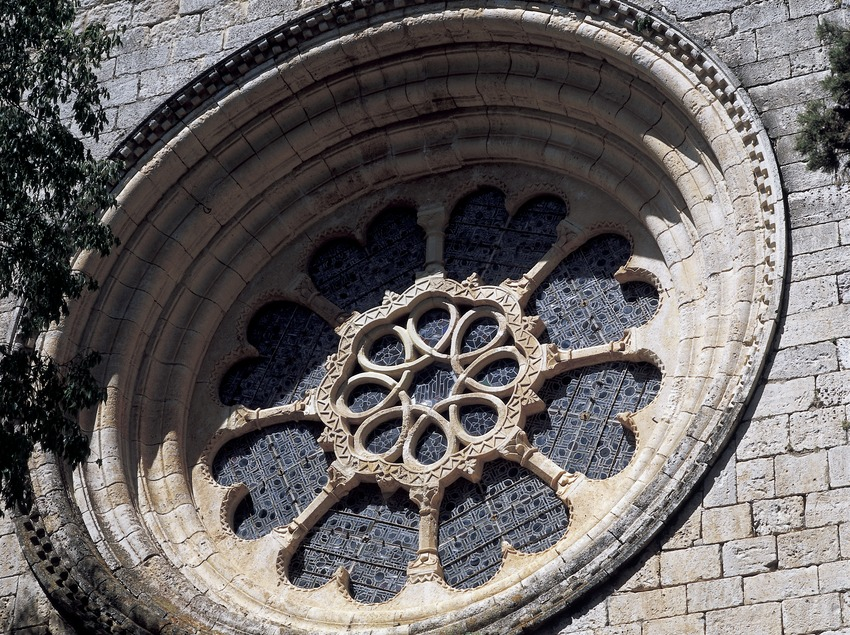 Rosace de l'église du monastère royal de Santes Creus  (Imagen M.A.S.)