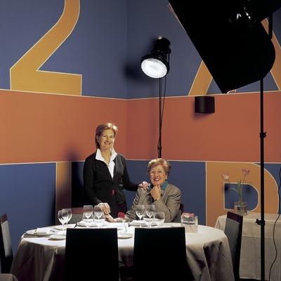 Paquita i Lolita Reixach, xefs del restaurant Hispania. (Imagen M.A.S.)