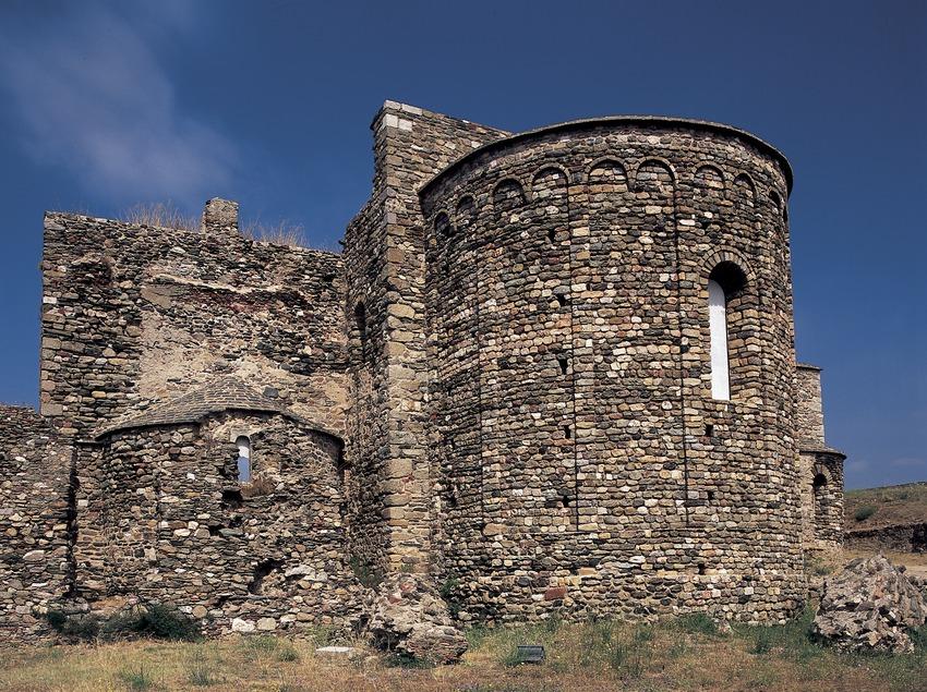 Església del monestir de Santa Maria de Roses, Ciutadella de Roses.  (Imagen M.A.S.)