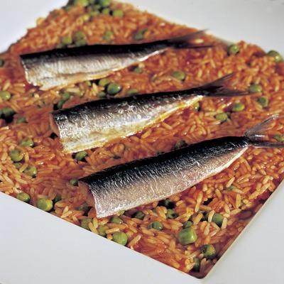 Arroz de sardinas.