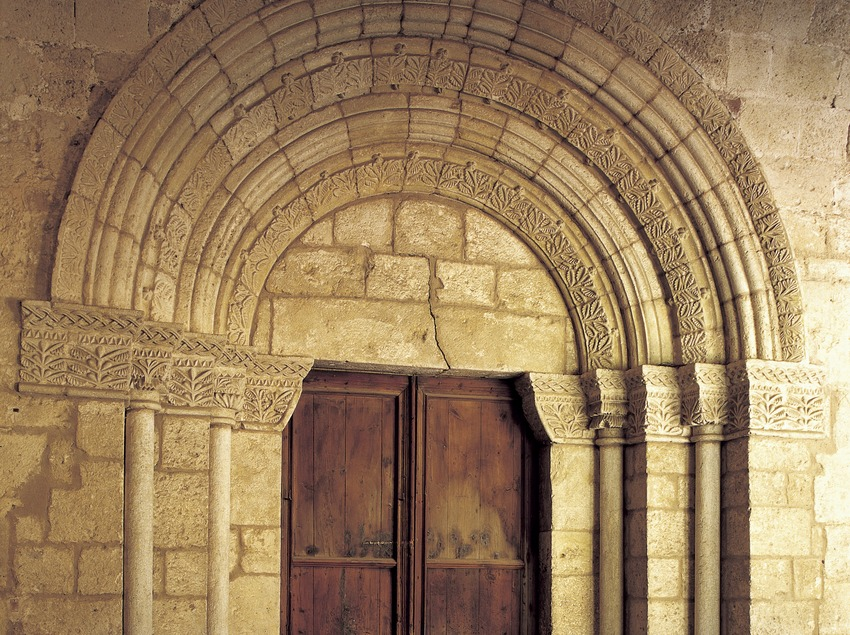 Romanesque doorway to the church of Sant Cugat d'Octavià monastery  (Imagen M.A.S.)