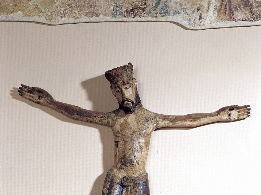Polychromed Christ (13th century). Sant Cugat Museum  (Imagen M.A.S.)