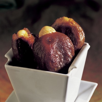 Figs with hot almonds.