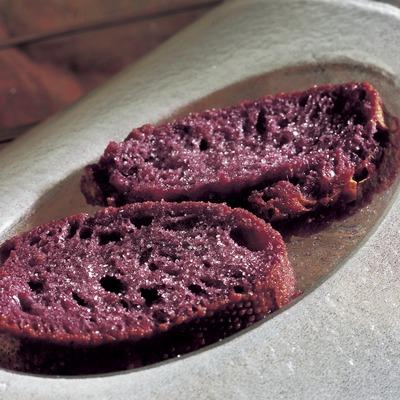 Bread in wine and sugar.