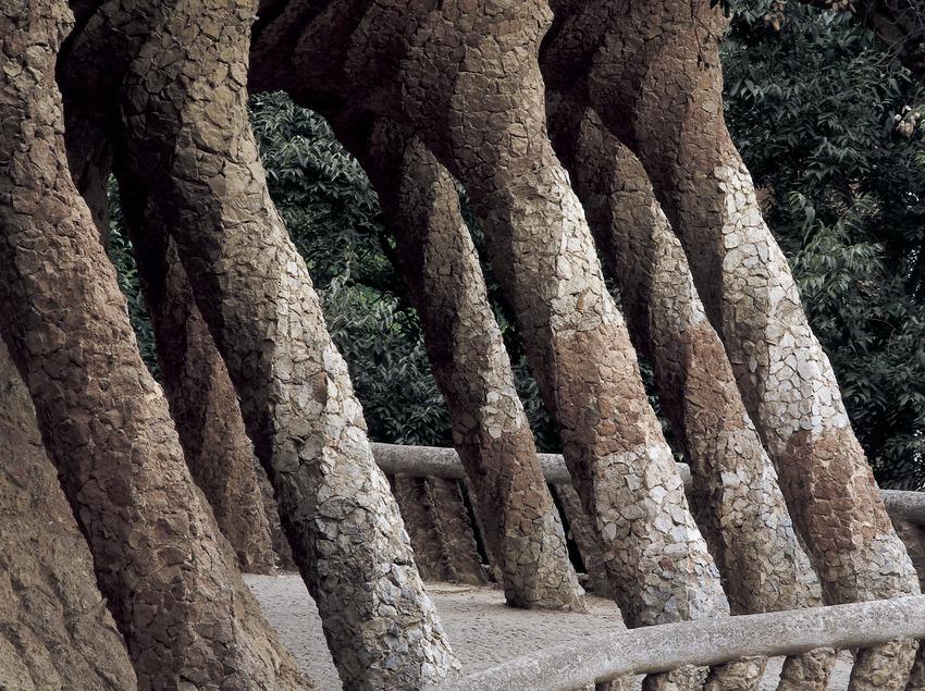 Виадук с Прачкой. Парк Гуэля. (Imagen M.A.S.)