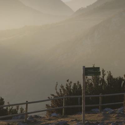 Vista de la serra del Cadí i el Pedraforca des de la serra del Montgrony  (Servicios Editoriales Georama)