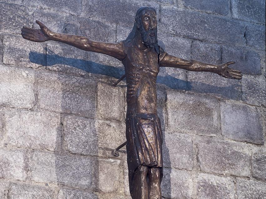 Crist romànic (segle XII). Monestir de Sant Feliu de Guíxols, seu del Museu d'Història de la Ciutat  (Imagen M.A.S.)
