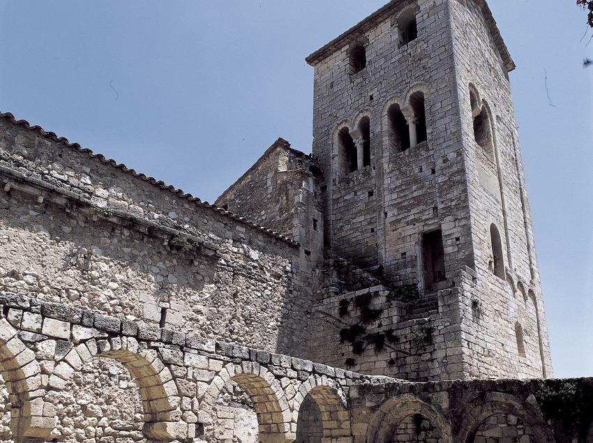 Clocher lombard (XIIe siècle). Monastère Sant Sebastià dels Gorgs  (Imagen M.A.S.)