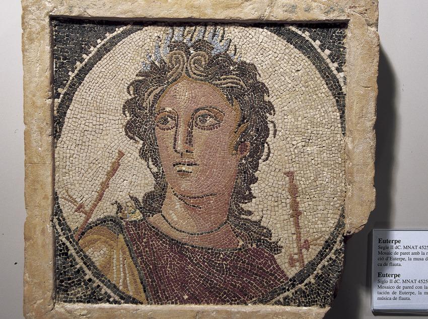 Mosaico de Euterpe (siglo II d.C.). Museo Nacional Arqueológico de Tarragona.  (Imagen M.A.S.)