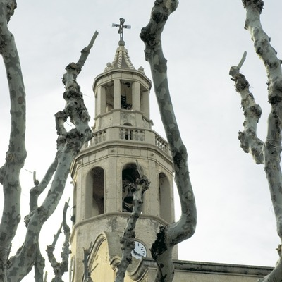 Bell tower of the church of Sant Cristòfol.  (Turismo Verde S.L.)