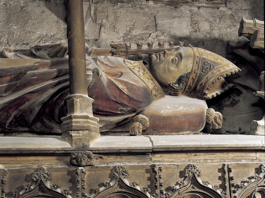 Sepulcre del bisbe Arnau de Mont-Rodon (1348). Catedral de Santa Maria.  (Imagen M.A.S.)