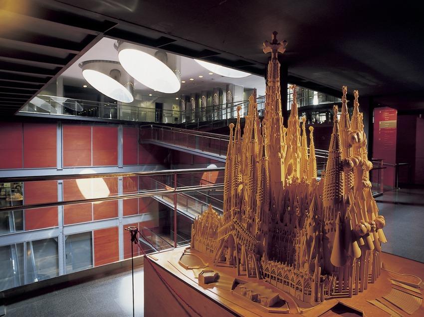 Maqueta del Temple Expiatori de la Sagrada Família. Museu d'Història de Catalunya.  (Imagen M.A.S.)