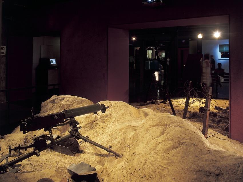 Escenografia d'un front de guerra de la Guerra Civil. Museu d'Història de Catalunya.  (Imagen M.A.S.)