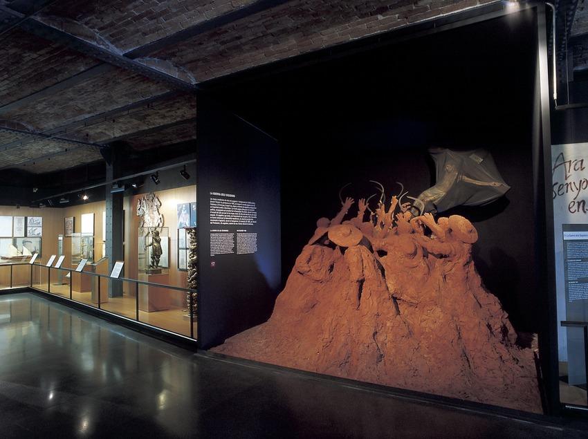 Escenografia al·legòrica del Corpus de Sang. Museu d'Història de Catalunya.  (Imagen M.A.S.)