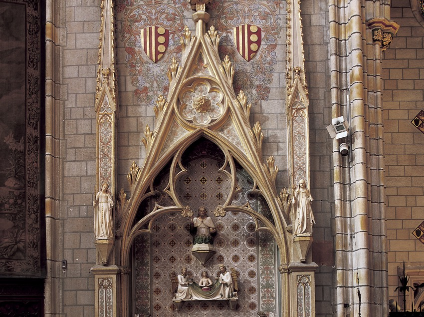 Sepulcre de la reina Elisenda de Montcada (segle XIV). Museu-Monestir de Pedralbes. (Imagen M.A.S.)