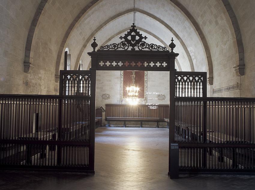 Sala capitular del monasterio de Pedralbes. (Imagen M.A.S.)