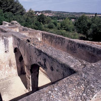 Cisterna de almacenamiento de agua de la villa de Els Munts.  (Imagen M.A.S.)