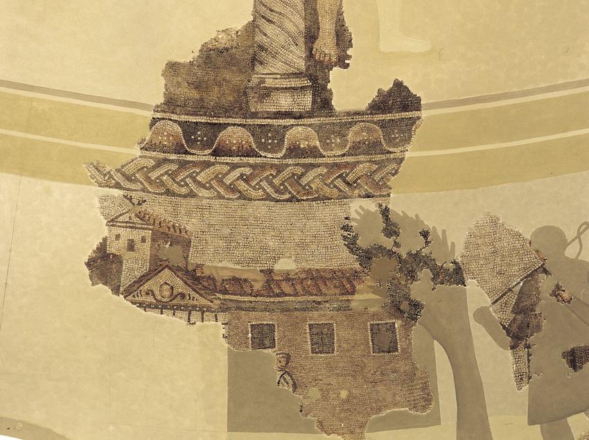 Restes de mosaics (segle IV) de la vil·la de Centcelles  (Imagen M.A.S.)