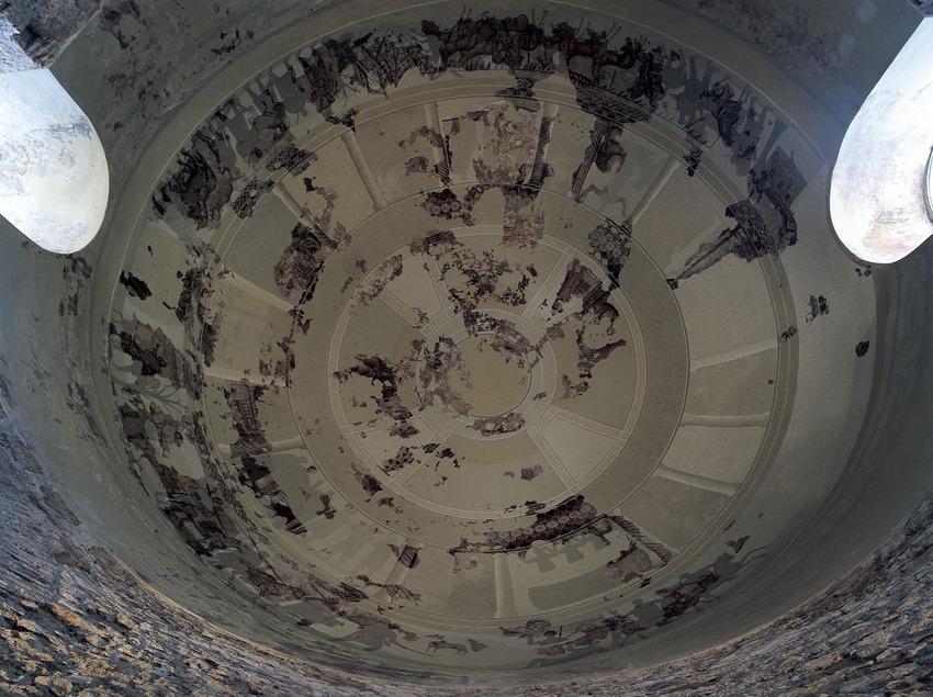 Cúpula con mosaicos (siglo IV) de la villa de Centcelles  (Imagen M.A.S.)