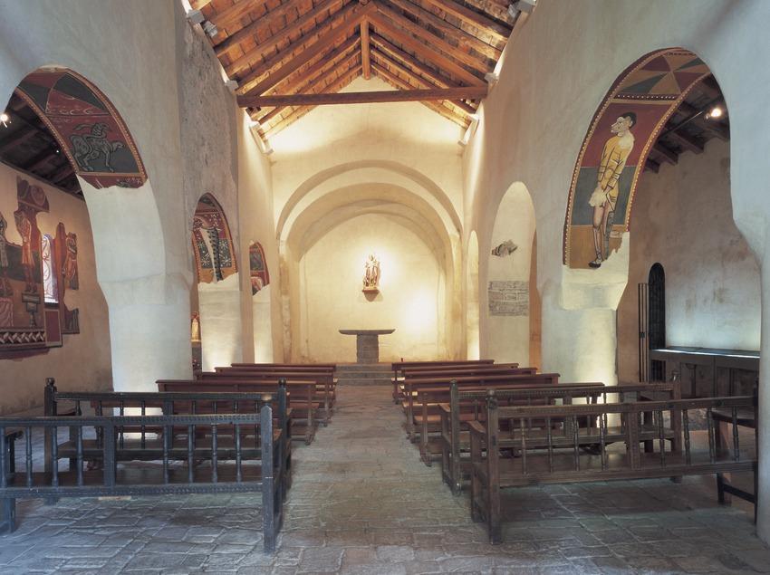 Nave central de la iglesia de Sant Joan de Boí.  (Imagen M.A.S.)