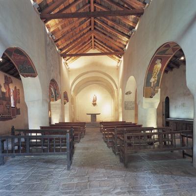 Nau central de l'església de Sant Joan de Boí.  (Imagen M.A.S.)
