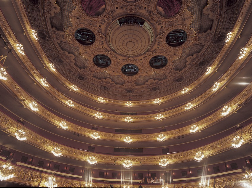 Vista posterior y techo del Gran Teatre del Liceu.