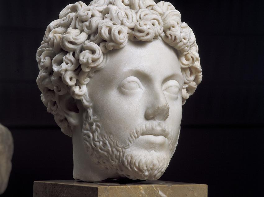 Bust de Marc Aureli (segle II d.C.). Museu Nacional Arqueològic de Tarragona.  (Imagen M.A.S.)