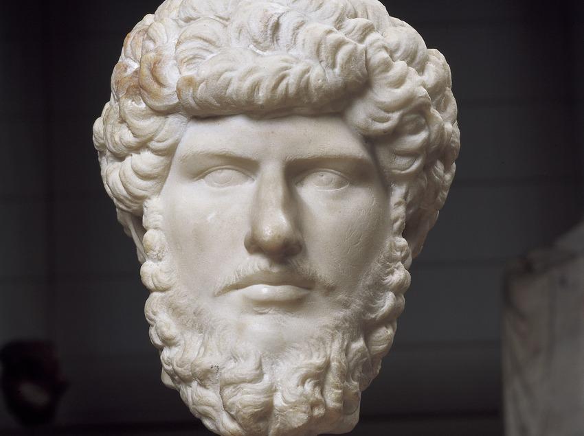 Busto de Lucio Vero (siglo II d.C.). Museo Nacional Arqueológico de Tarragona.  (Imagen M.A.S.)