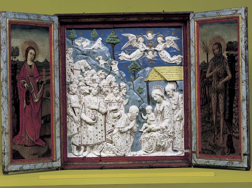 Tríptic l'Epifania (segle XVI). Museu-Monestir de Pedralbes. (Imagen M.A.S.)