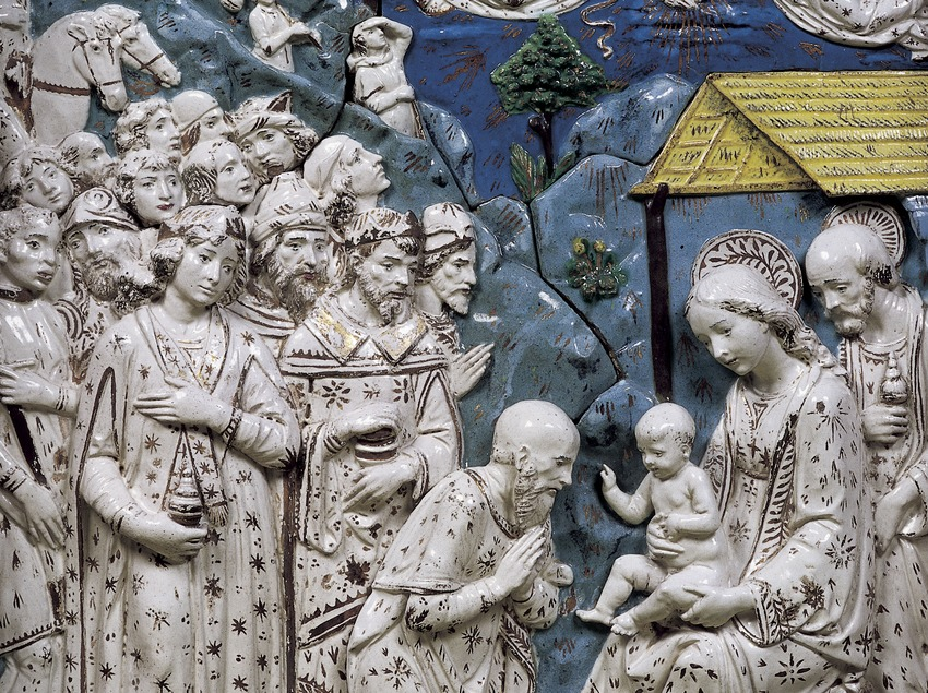Tabla central del tríptico la Epifanía (siglo XVI). Museo-Monasterio de Pedralbes. (Imagen M.A.S.)