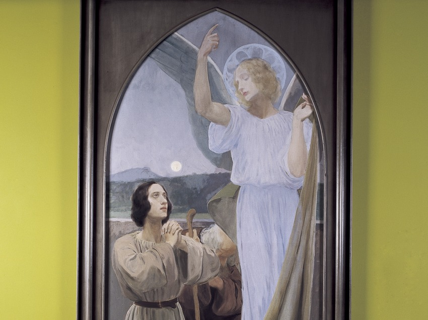 San Rafael con Tobías (1896). Joan Llimona. Museo-Monasterio de Pedralbes. (Imagen M.A.S.)