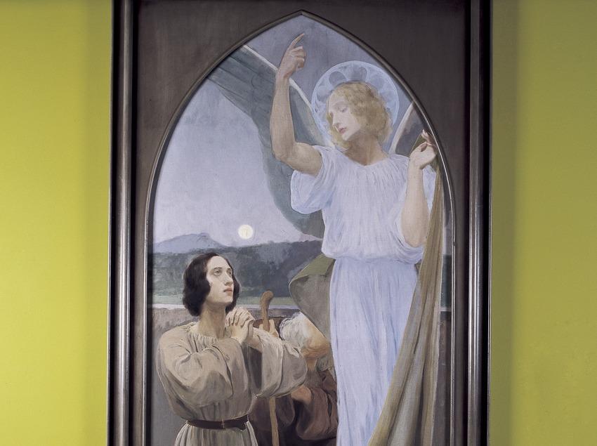 Sant Rafael amb Tobies (1896). Joan Llimona. Museu-Monestir de Pedralbes. (Imagen M.A.S.)