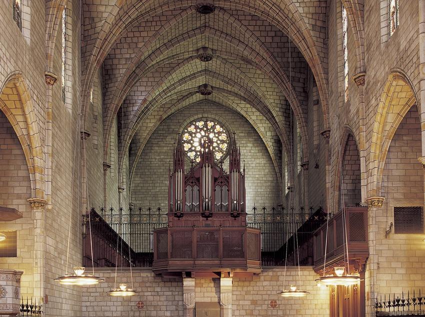 Nau central de l'església del Museu-Monestir de Pedralbes. (Imagen M.A.S.)