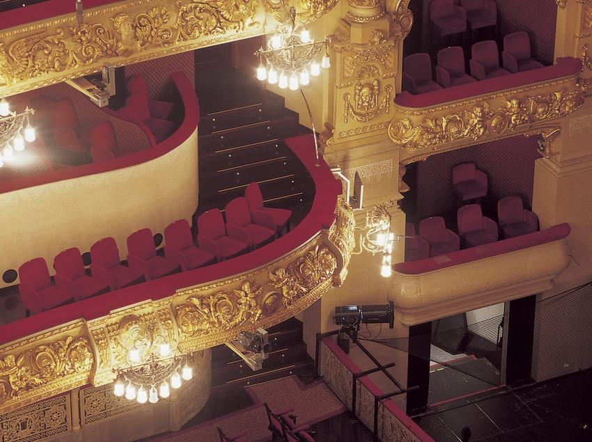 Detall de la platea i les llotges del Gran Teatre del Liceu.  (Imagen M.A.S.)