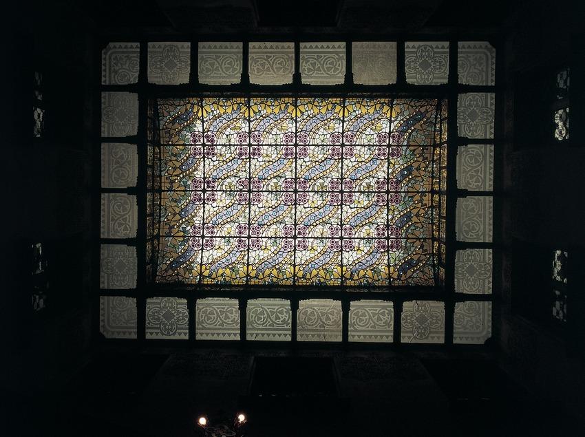 Sostre vidriat de la Casa Amatller.  (Imagen M.A.S.)