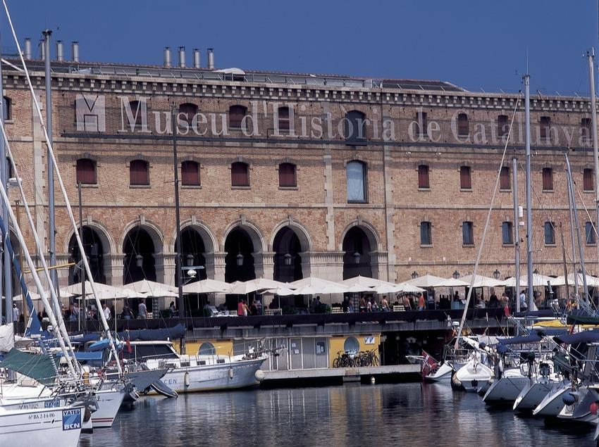 Exterior del Palau de Mar, seu del Museu d'Història de Catalunya.
