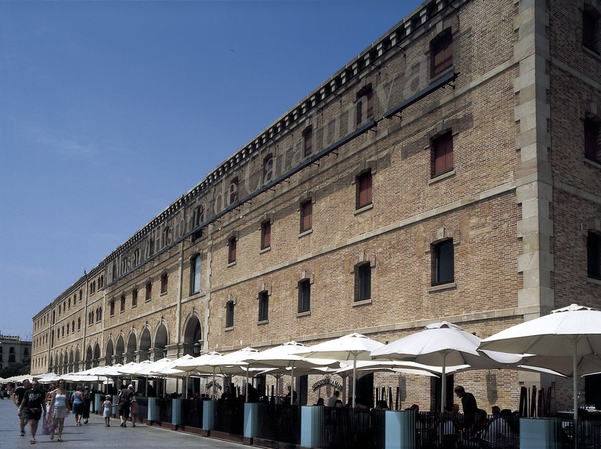 Exterior del Palau de Mar, seu del Museu d'Història de Catalunya.  (Imagen M.A.S.)