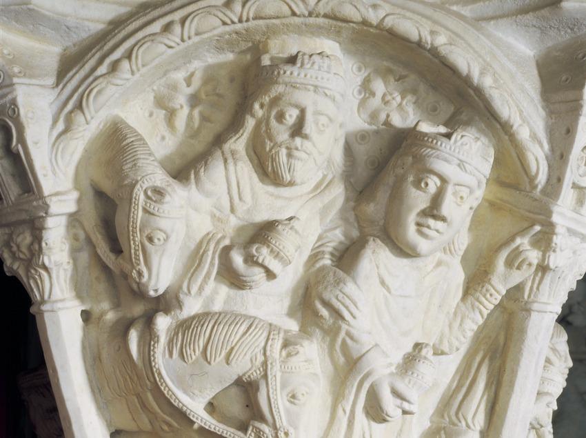 L'Adoració dels Reis Mags (segle XIII). Museu Diocesà de Tarragona.  (Imagen M.A.S.)